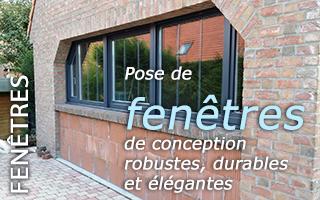 Pose de fenetre portes fen tres volets stores for Garage rue du dronckaert roncq